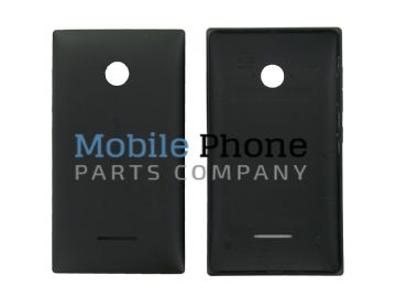 Genuine Microsoft Lumia 435 Battery Back Cover Black - Part No: 02508T6